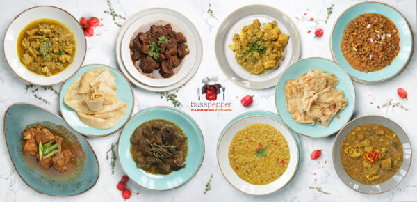 Busspepper Kitchen's delicious Caribbean Food